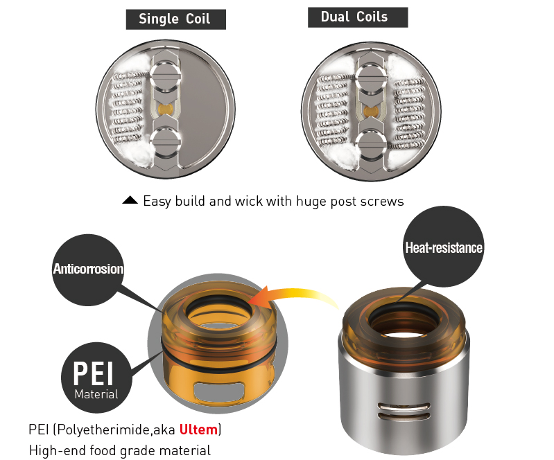 Compatible with 810 drip tips